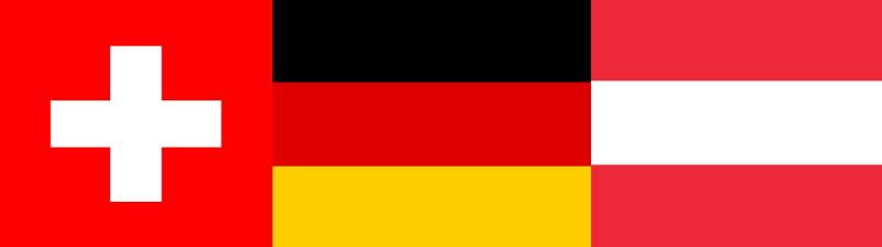 Deutschland, Österreich und Schweiz